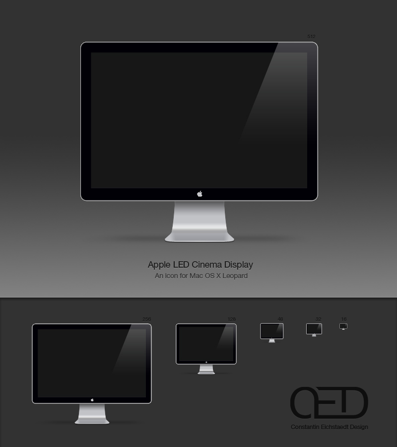 Apple LED Display Icon OSX