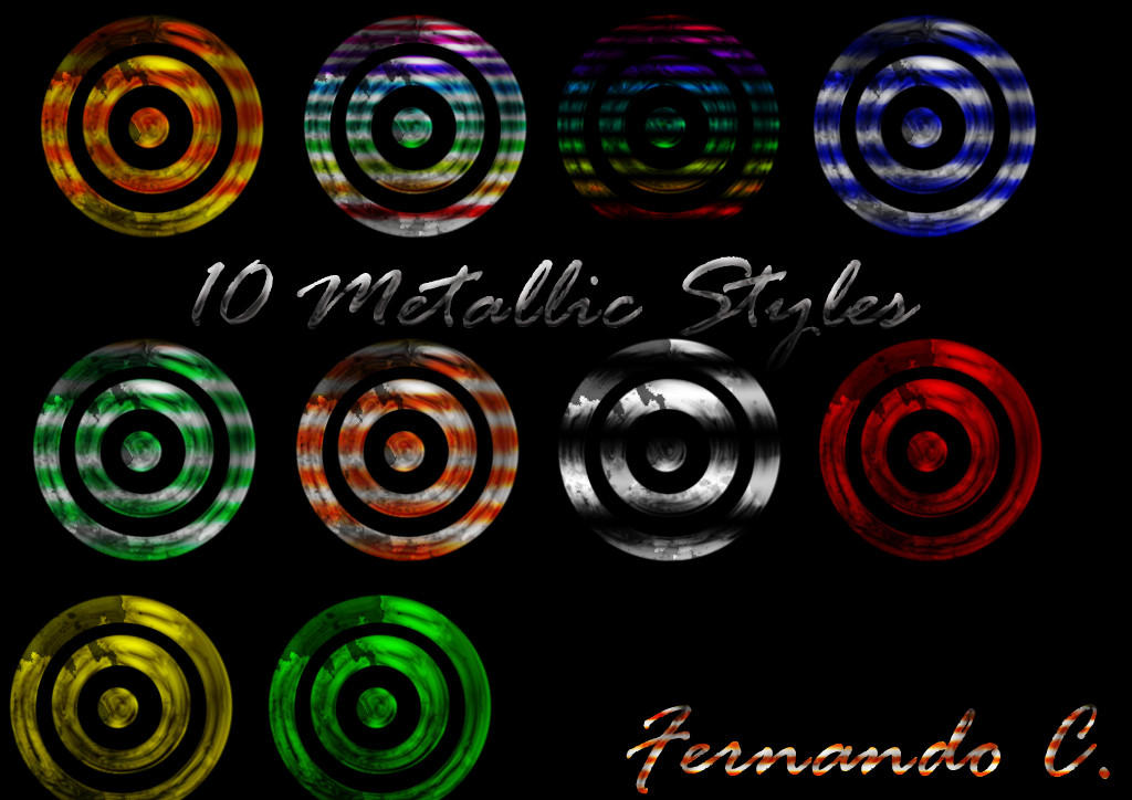 10 Metallic Styles by ThaMex4lif3