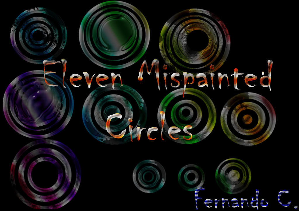 Eleven Mispainted Circles by ThaMex4lif3
