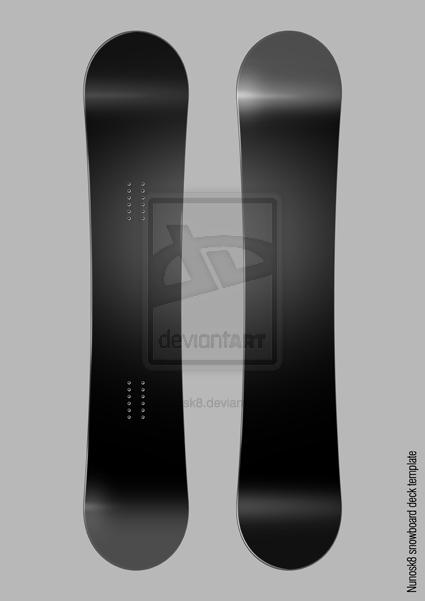snowboard deck template