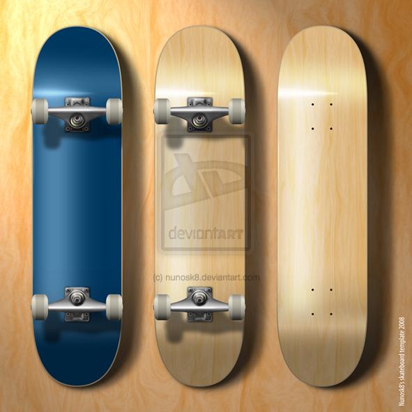 NEW skateboard template
