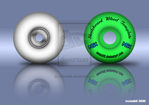 Sk8board wheel template by Nunosk8