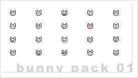 bunny emoticons 01 by cyanidePanda