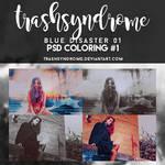 TrashSyndrome PSD Coloring #1 - Blue Disaster 01