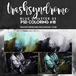 TrashSyndrome PSD Coloring #18 - Blue Disaster 03