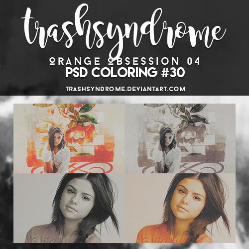 TrashSyndrome PSD Coloring #30 Orange Obsession 04