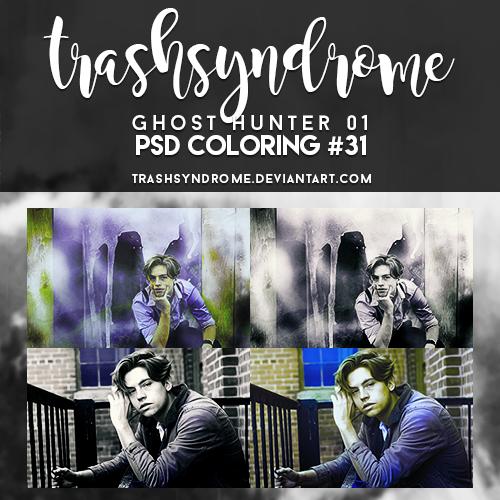 TrashSyndrome PSD Coloring #31 - Ghost Hunter 01