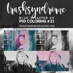 TrashSyndrome PSD Coloring #33 - Blue Disaster 04