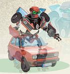 transformers fiat 127 animated