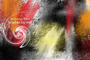 Grunge Paint brushes by melemel