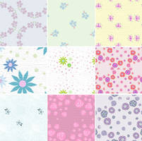 Dusty Florals - pattern set by melemel