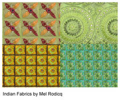 Indian fabric patterns by melemel