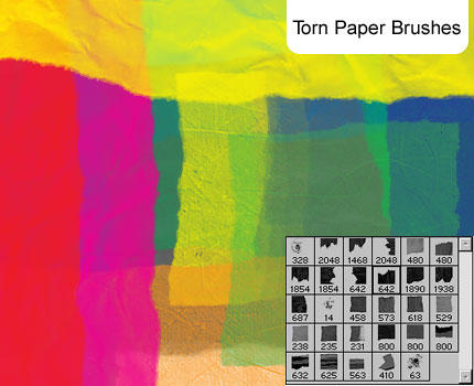 Torn Paper brushes by melemel