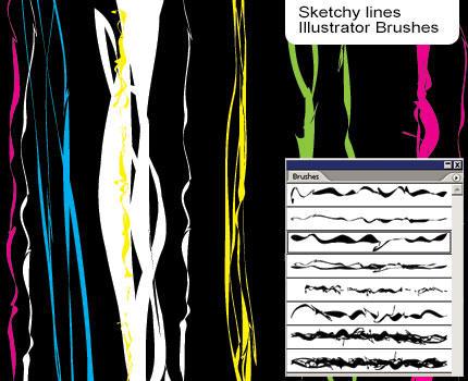 Sketchy Brushes by melemel