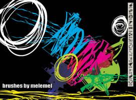 Nu-rave Grunge brushes by melemel