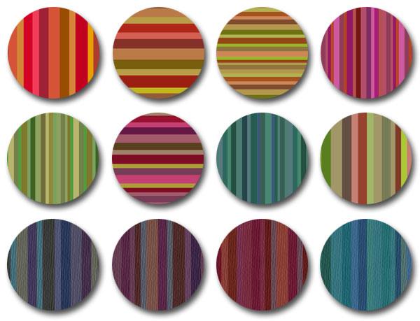 Bourbon Stripes pattern set