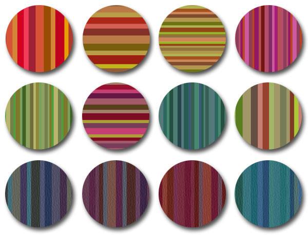 Bourbon Stripes pattern set by melemel