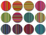 Bourbon Stripes pattern set