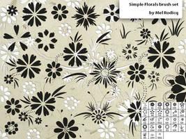 Simple Florals brush set by melemel