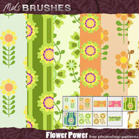 Flower Power retro patterns by melemel