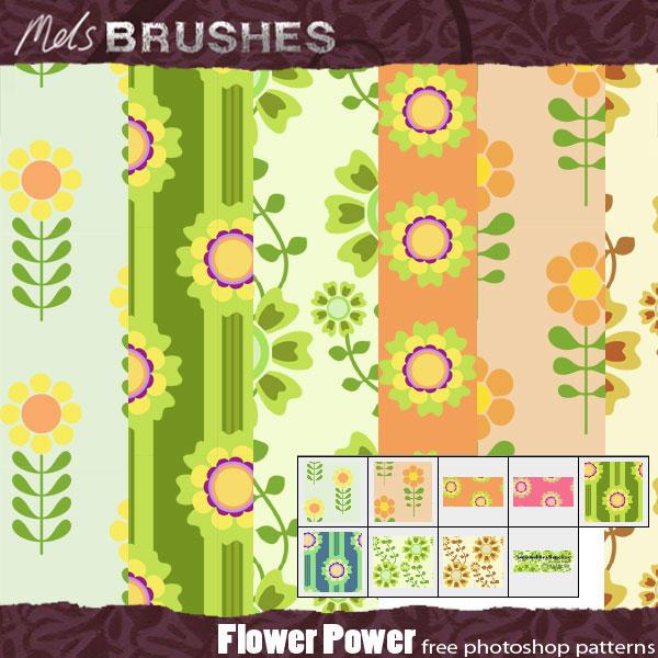 Flower Power retro patterns by melemel