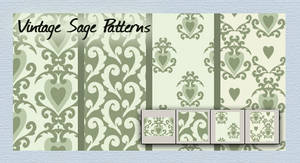 Vintage Sage patterns by melemel