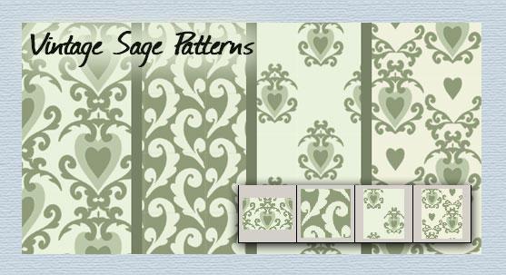 Vintage Sage patterns by melemel