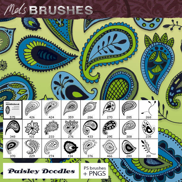 Paisley Doodles by melemel
