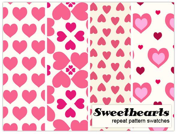 Sweetheart pattern repeats by melemel