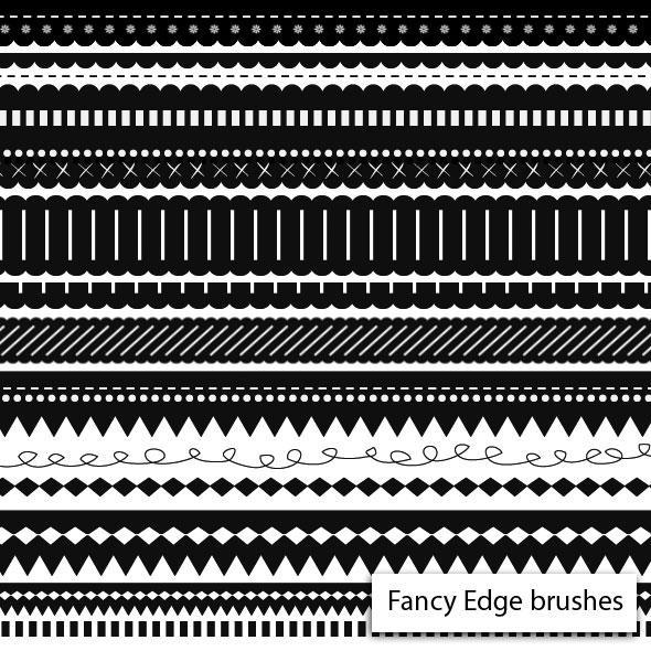 Fancy Edge Brushes by melemel