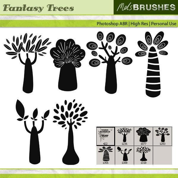 Fantasy Trees by melemel