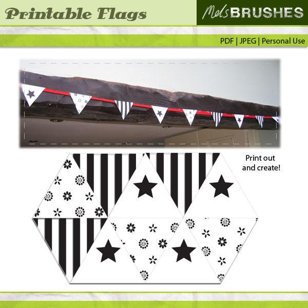 Printable Flags by melemel
