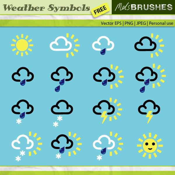 Vector Weather Symbols By Melemel On Deviantart
