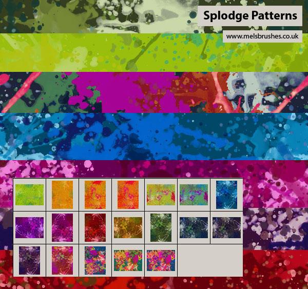 Splodge paint splatter pattern by melemel