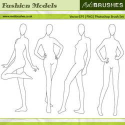 Fashion Illustration Models by melemel