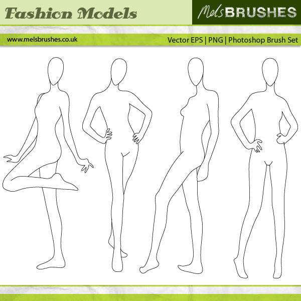 Fashion Illustration Models by melemel