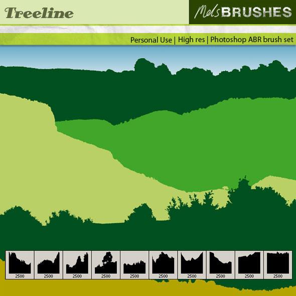 Treeline Brushes by melemel