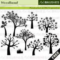 Woodland brushes by melemel