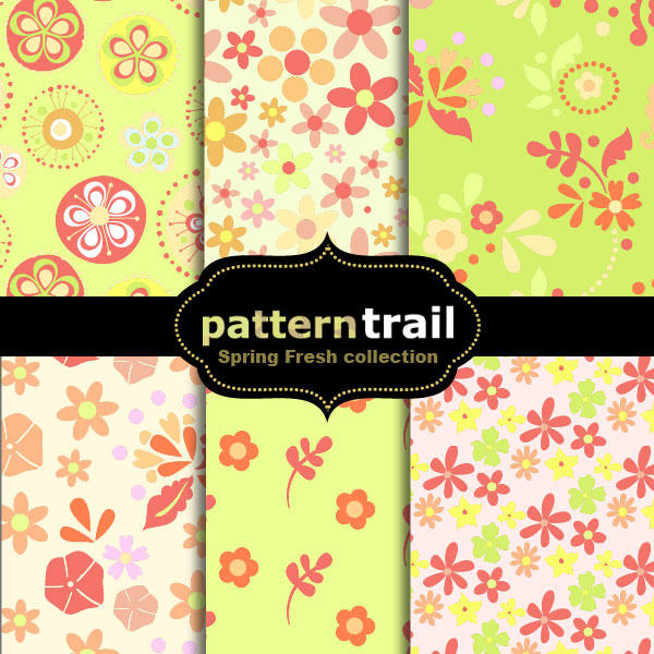 Spring Fresh Floral Patterns by melemel