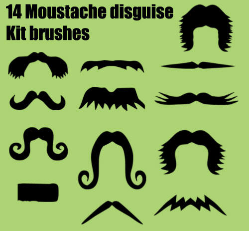 Moustache Brushes by melemel