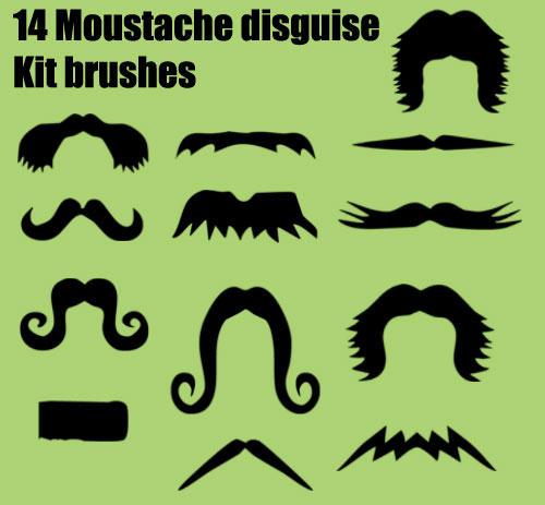 Moustache Brushes by melemel