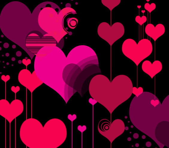 Vector Hearts by melemel Free Photoshop Brushes for Valentines Day