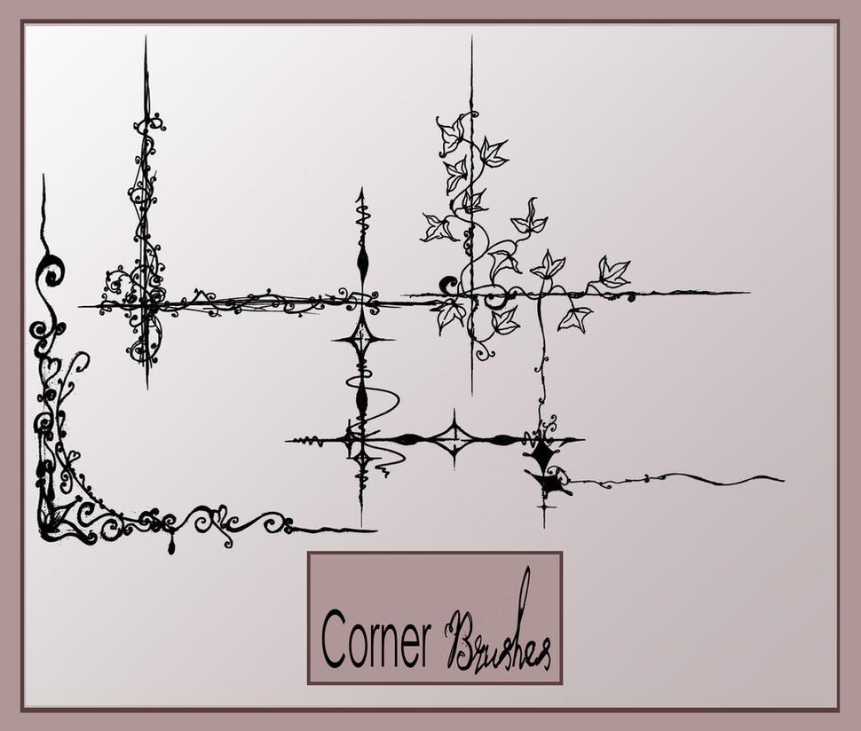 Corners photoshop brushes by AmeliaLune