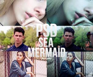 PSD: Sea Mermaid by iJoshCarter