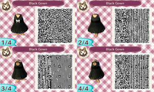 ACNL- black gown qr codes