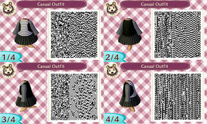 ACNL- Casual Outfit QR Code