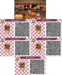 ACNL- Music Notes Wall Poster QR Codes