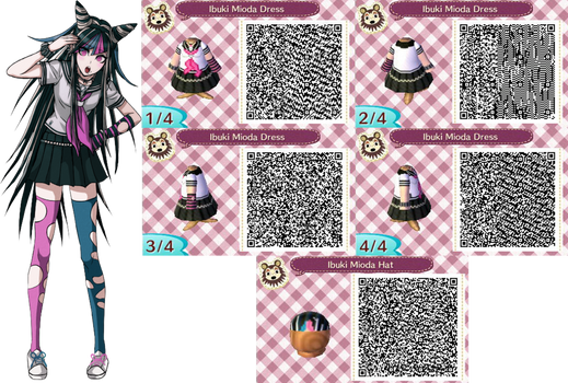 ACNL- Ibuki Mioda Outfit QR Codes (Request)