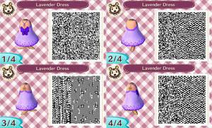 ACNL- Lavender Dress QR Code