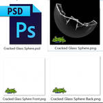 Cracked Glass Sphere PSD and PNG